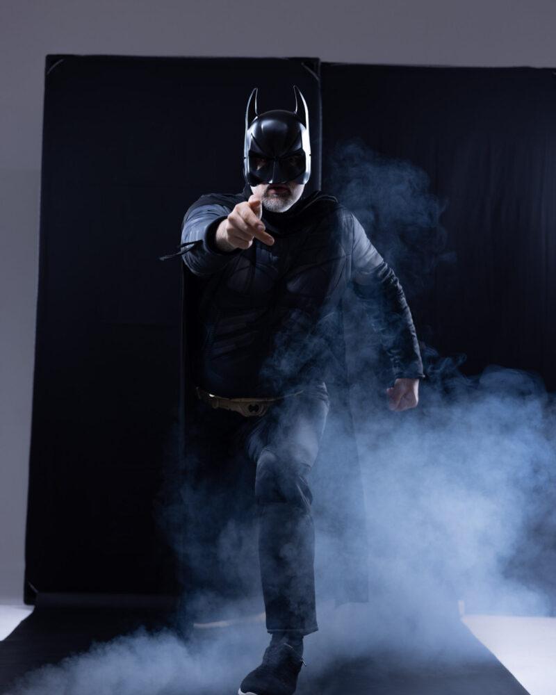 Meier & Kamer Werbefotografie: Bildcomposing Cosplay Batman vorher