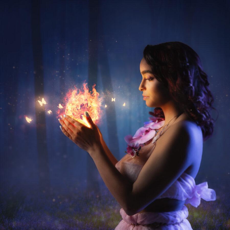 Meier & Kamer Werbefotografie: Bildcomposing Fantasy Feuerfee