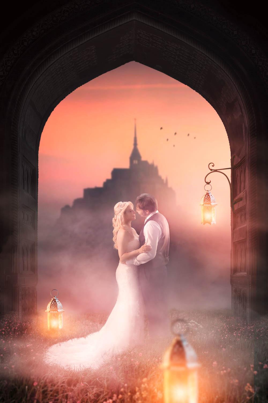 Meier & Kamer Werbefotografie: Bild Composing Schloss After Wedding Shooting