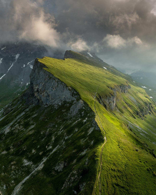 Meier & Kamer Landschaftsfotografie - Luftaufnahme mit Drohne vom Fisetengrat, Kanton Uri