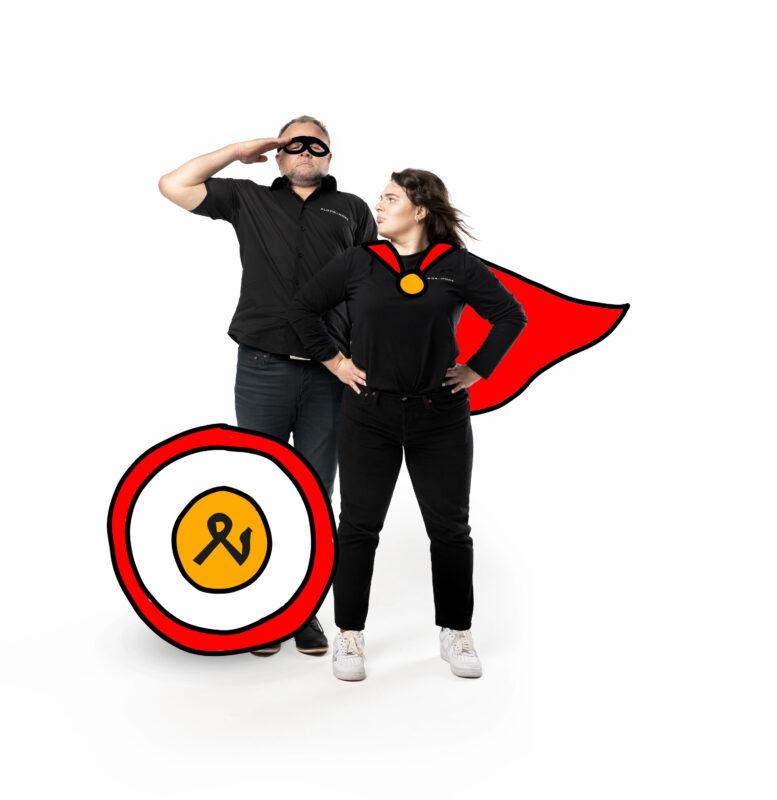 Meier & Kamer: Fotoshooting ohne Kostüm ist natürlich auch möglich :-)