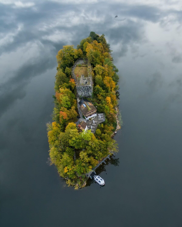 Meier & Kamer Luftaufnahme mit Drohne: Insel Schwanau