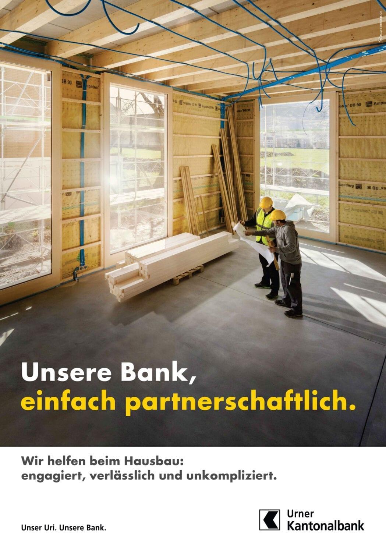 Meier & Kamer Fotografie Werbekampagne der Urner Kantonalbank UKB, F4 Plakat
