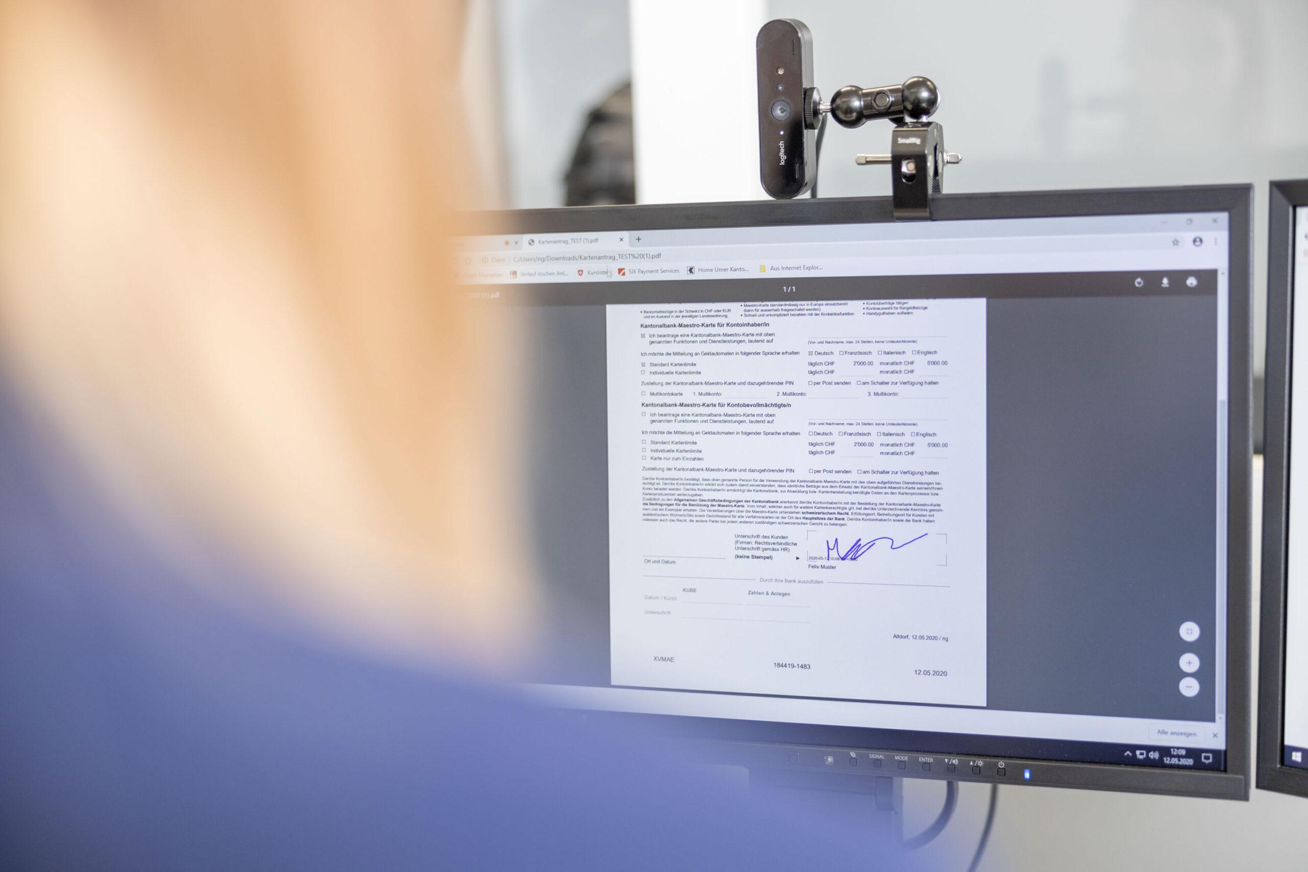 Werbefotografie Meier & Kamer: Reportage für externe Kommunikation Videoservice Kantonalbank (UKB)